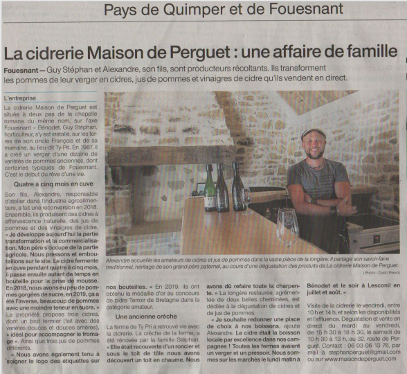 fouesnant article ouest france